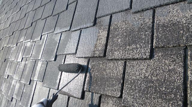 屋根下塗り拡大