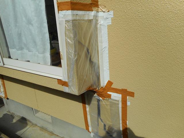 熊本市東区で外壁補修工事を行いました。