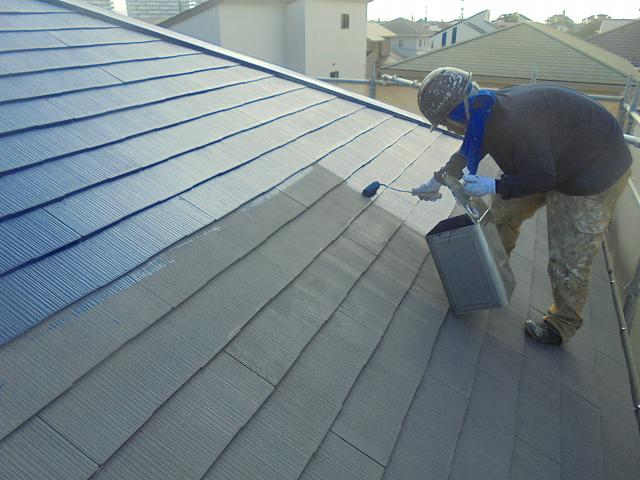屋根中塗り拡大