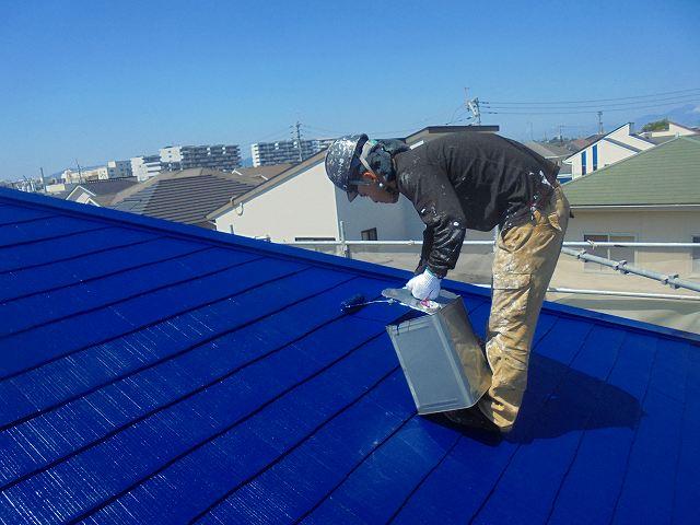 屋根上塗り拡大