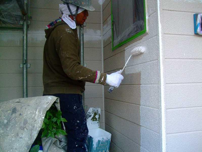 熊本市中央区で外壁の塗装をガイナで行いました。