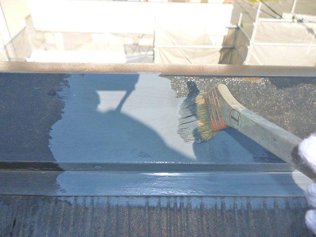 屋根板金錆止め塗布