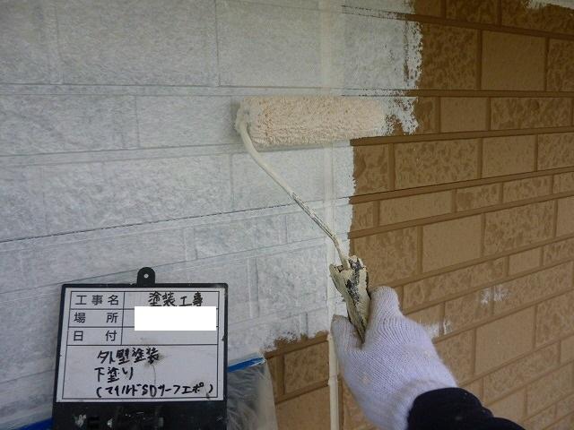熊本市南区孫代町で外壁塗装と外部ブロック塀塗装と付帯部の塗装を行いました。