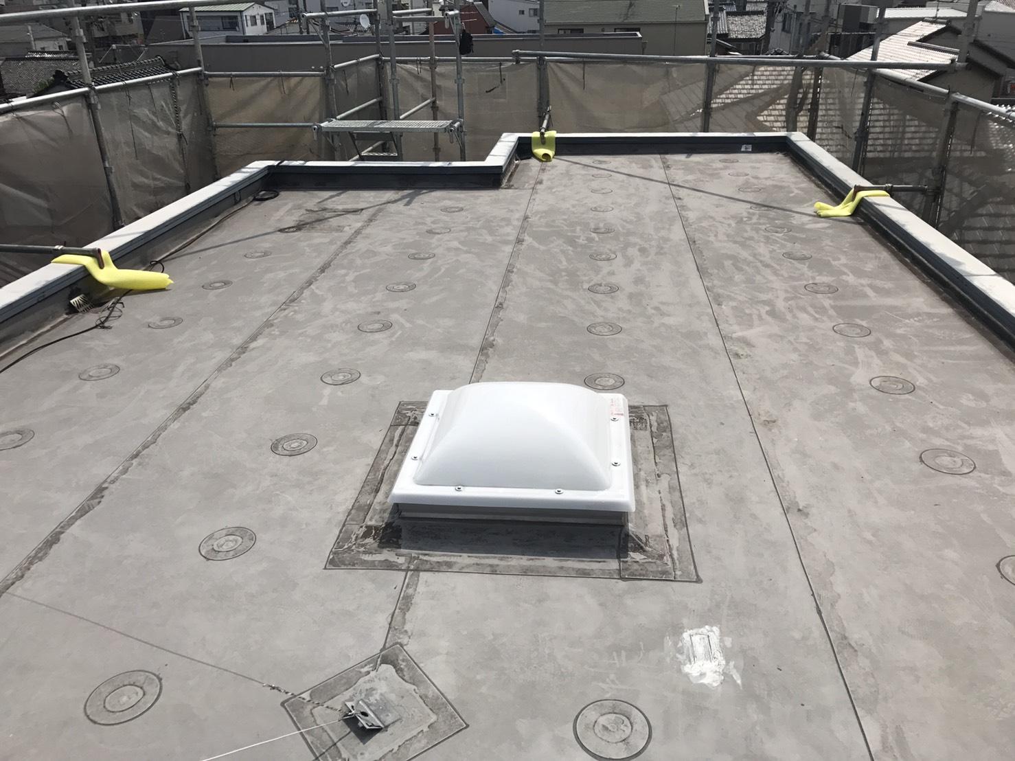 名古屋市北区で陸屋根防水及び外壁塗装工事を行っています