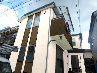 川口市でカラーシュミレーションを実施し、外壁塗装を行いました。