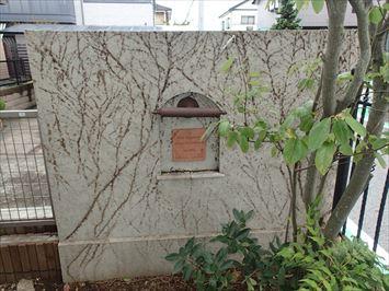 江戸川区中葛西でツタの張った擁壁を再塗装する調査を行いました