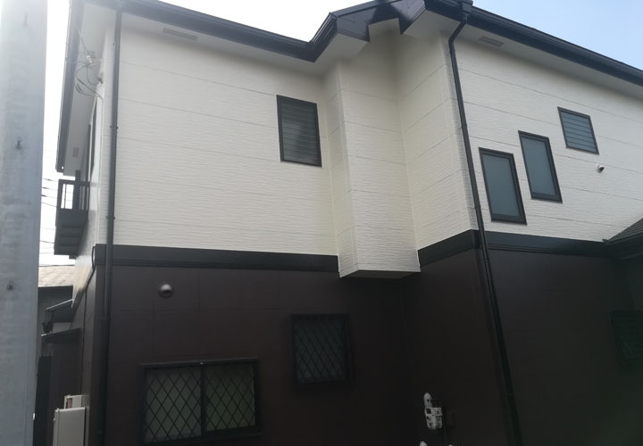 青梅市勝沼にてファイン4Fセラミックの2色を使用した外壁塗装が竣工しました