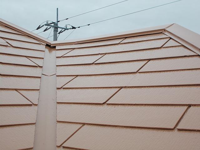 所沢市上安松の現場は遮熱塗料で屋根の上塗り塗装施工
