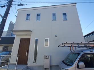 印西市高花で築8年になり外壁塗装を検討し始めたI様邸の点検、パーフェクトトップでの塗り替えをご提案