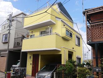 松戸市小金原で屋根・外壁塗装を検討している邸宅のカラーシミュレーション、ND-250の外壁に決定!