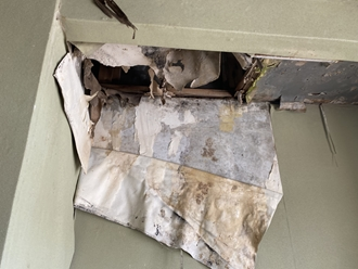 南房総市白浜町にて屋上から雨漏り、通気緩衝工法のウレタン防水工事