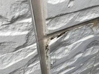 袖ケ浦市長浦駅前にて外壁の剥がれ、部分交換を行い外壁塗装工事
