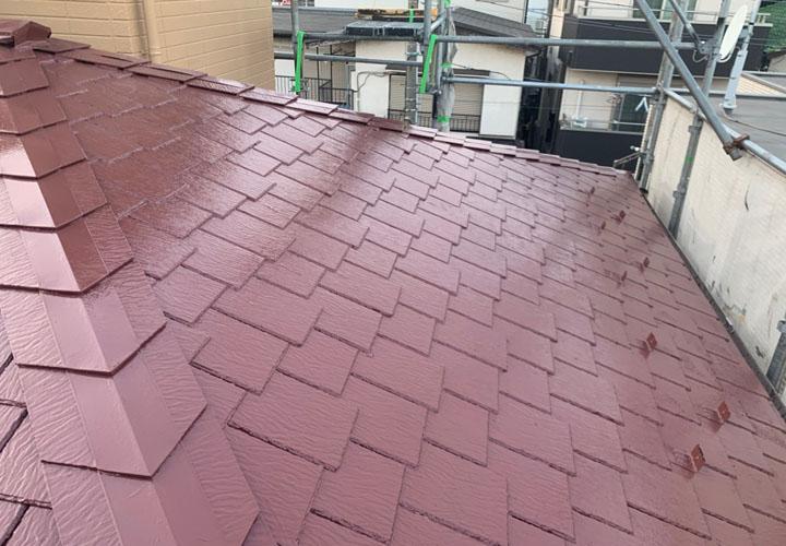 野田市清水でアーバニー屋根の塗装、ラジカル制御塗料のパーフェクトベストを使用し色褪せしにくい屋根に