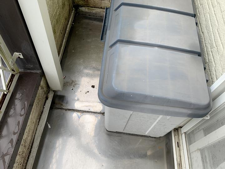 四街道市鹿渡にてベランダからの雨漏りについてのご相談、調査にお伺いしました