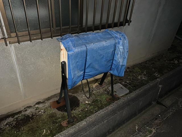 福島市で屋根塗装中のお客様宅の灯油タンク入れ替え工事
