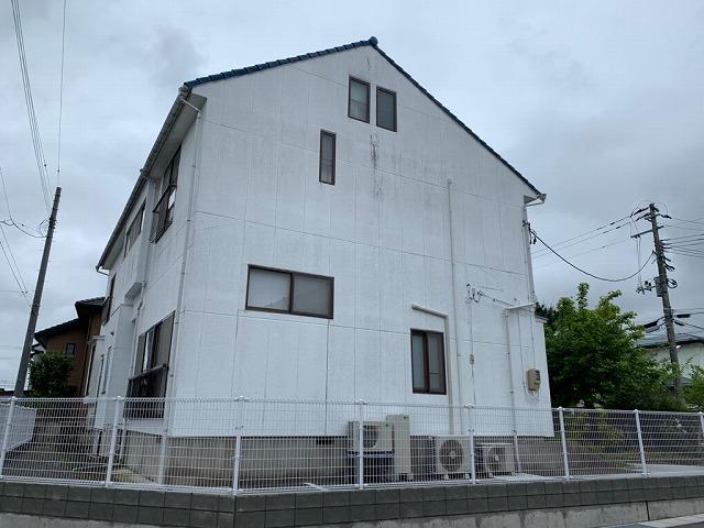 福島市宮代のお客様宅で2階建て住宅の外壁塗り替えの現調